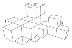 Mesh Cubes-Element Stockfotografie