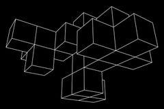 Mesh Cubes-Element Stockfoto