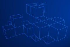 Mesh Cubes-Element Lizenzfreie Stockbilder