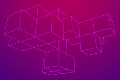 Mesh Cubes-Element Stockbild