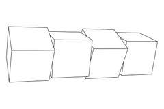 Mesh Cubes-Elemente Stockfoto