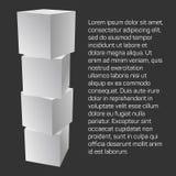 Mesh Cubes-Elemente Stockfotos