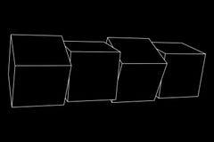 Mesh Cubes-Elemente Lizenzfreie Stockbilder