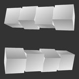 Mesh Cubes-Elemente Lizenzfreies Stockfoto