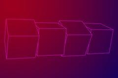 Mesh Cubes-Elemente Lizenzfreie Stockfotos
