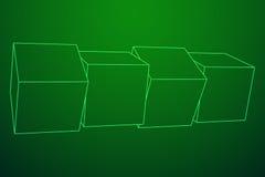 Mesh Cubes-Elemente Lizenzfreie Stockfotografie