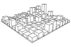 Mesh Cubes-Reihe Lizenzfreie Stockfotos