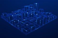 Mesh Cubes-Reihe Lizenzfreies Stockbild