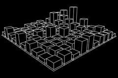 Mesh Cubes-Reihe Lizenzfreie Stockfotografie