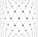 Mesh diamonds 3D pattern. Abstract textured background. Vector art stock illustration