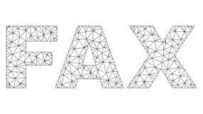 Mesh FAX Text Label poligonal ilustración del vector