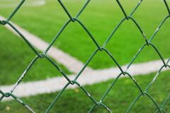 Mesh fence Stock Images