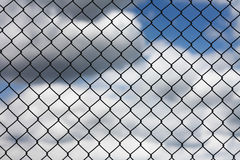 Mesh fence abstract background Royalty Free Stock Image