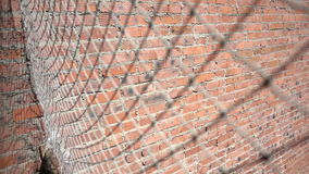 Mesh fence close up stock video