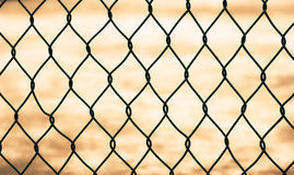 Mesh fence isolated Royalty Free Stock Photo
