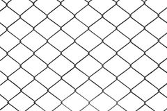Mesh fence. Isolated metal net on a white background royalty free stock photos