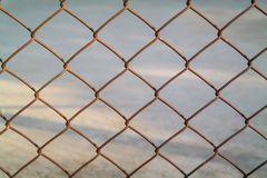 Mesh fence Royalty Free Stock Images