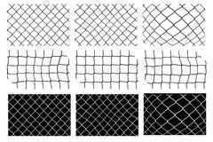 Mesh fence vector set Royalty Free Stock Photography