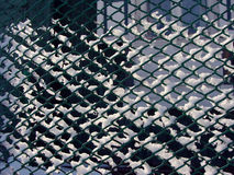 Mesh fence winter Royalty Free Stock Photos