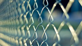 Mesh fencing around prison
