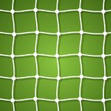 Mesh football goal on a green background Stock Photos