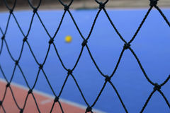 Mesh Futsal with Futsal field on background Stock Images