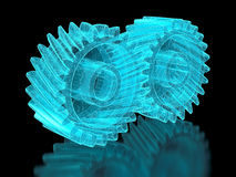 Mesh gears Stock Photography
