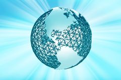 Mesh Globe Rays Royalty Free Stock Photo