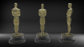 Mesh golden statues Royalty Free Stock Photos
