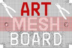 Mesh With Letters negro rojo Fotos de archivo