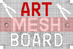 Mesh With Letters noir rouge Photos stock