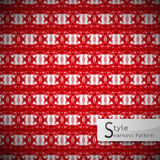Mesh loop heart red bow ribbon geometric seamless pattern vector Stock Photos
