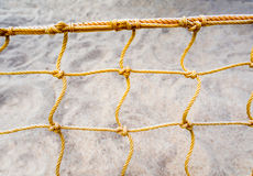 Mesh net of beach volleyball. Mesh net of sand beach volleyball stock photography
