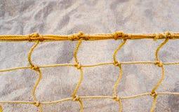 Mesh net of beach volleyball. Mesh net of sand beach volleyball stock photos