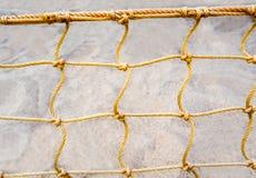 Mesh net of beach volleyball. Mesh net of sand beach volleyball stock photo