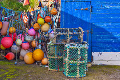 Free Mesh Net Shellfish Traps At Sea Port Stock Photography - 68739602