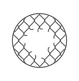 Mesh netting Torn. Rabitz  with hole. Mesh fence Ripped backgrou Royalty Free Stock Image