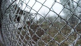 Mesh netting winter stock video footage