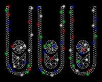 Mesh Network Baby Cloning Test-Tubes brilhante com pontos do alargamento ilustração do vetor