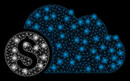 Mesh Network Banking Cloud brillante con los puntos de la llamarada libre illustration