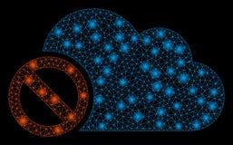 Mesh Network Disabled Cloud intelligente con i punti luminosi royalty illustrazione gratis