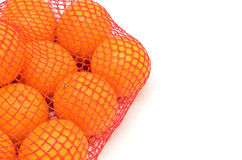 Mesh oranges from the supermarket Stock Image