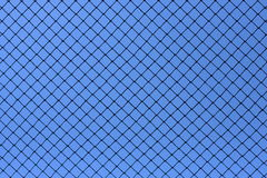 Mesh pattern on blue sky background Royalty Free Stock Image
