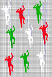Mesh Pattern With Climbers Stock Image
