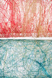 Mesh red and blue textures Stock Photo