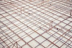 Mesh reinforcement cage, reinforcement plates. A Stock Images
