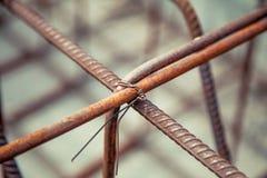 Mesh reinforcement cage, reinforcement plates. A Stock Photos