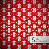 Mesh rope red geometric seamless pattern vector illustration Royalty Free Stock Photos