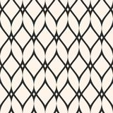 Mesh seamless pattern, thin wavy lines. Texture of lace, weaving. Smooth lattice. Subtle monochrome geometric background. Design for prints, fabric, cloth Royalty Free Stock Photo