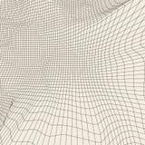 Mesh Sphere torcido iluminado 3d abstracto Muestra de neón Tecnología futurista HUD Element Elegante destruido grande ilustración del vector
